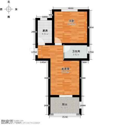 驼梁云中院1室0厅1卫1厨64.00㎡户型图