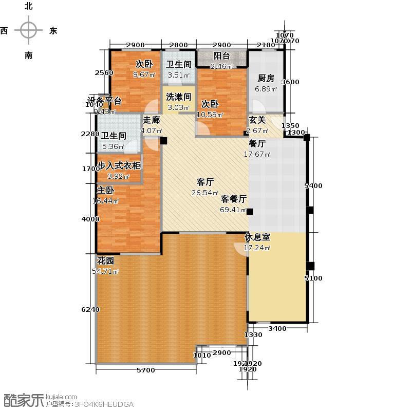 人信千年美丽洋房房型: 四房; 面积段: 143 -157 平方米;户型