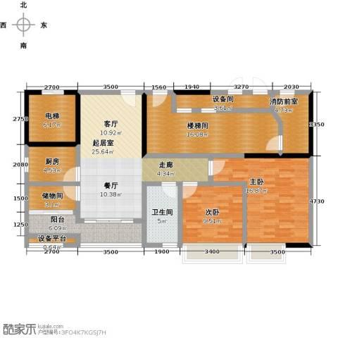 骏景花园2室0厅1卫1厨101.97㎡户型图