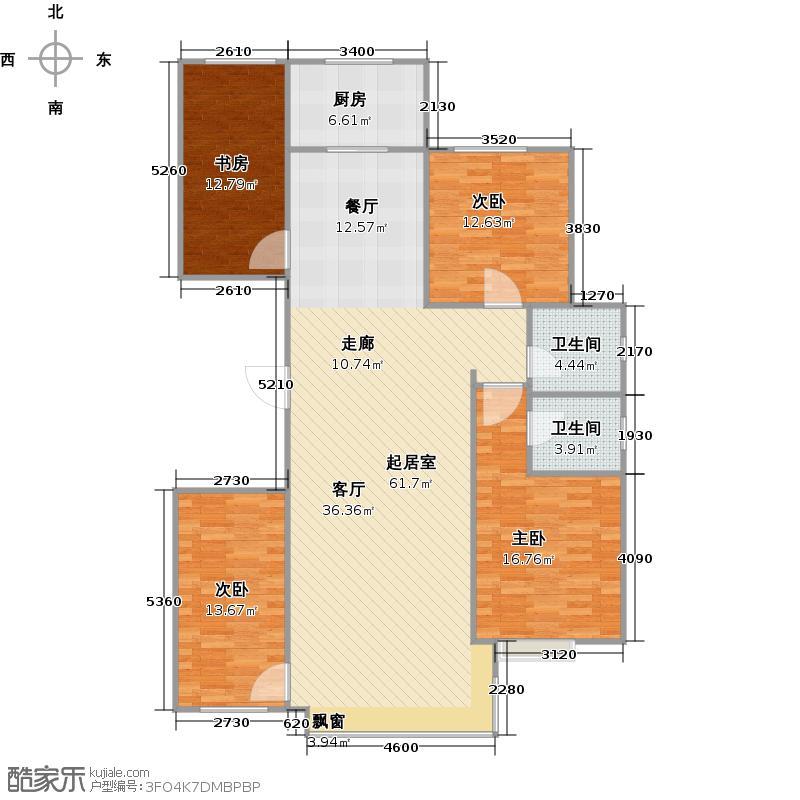 青建荣和城三期129.00㎡F户型4室2厅2卫