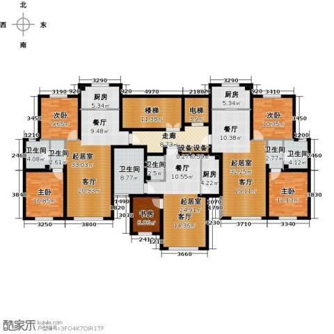 弘域欣源5室0厅4卫3厨197.46㎡户型图