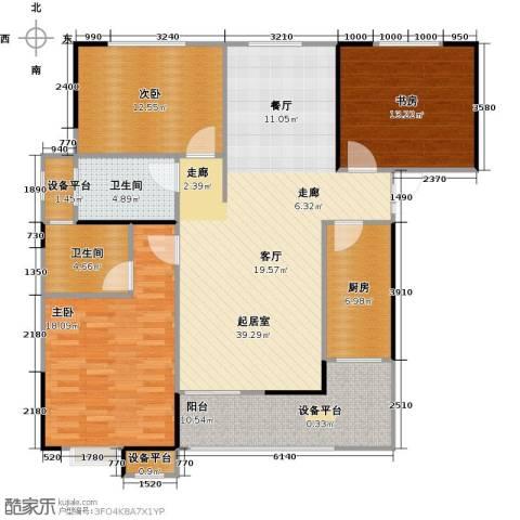 嘉豪公园世家3室0厅2卫1厨121.00㎡户型图