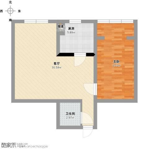 矿机小区1室1厅1卫1厨84.00㎡户型图