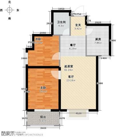 太原家天下2室0厅1卫1厨104.00㎡户型图