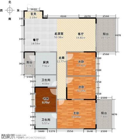 博罗新时代花园4室0厅2卫1厨152.00㎡户型图