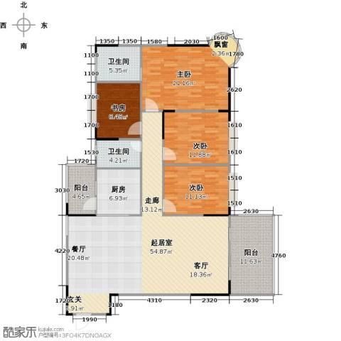 博罗新时代花园4室0厅2卫1厨150.00㎡户型图