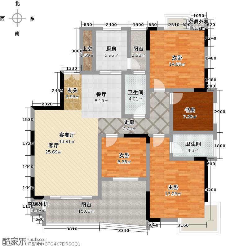 天泽・江南景苑户型4室1厅2卫1厨