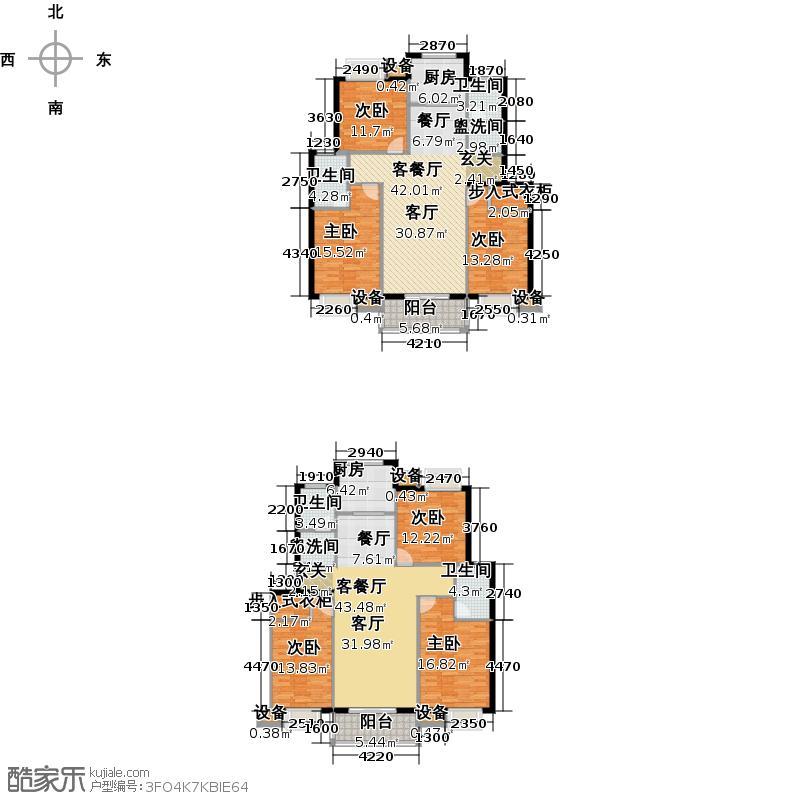 城东锦园户型6室2厅4卫2厨