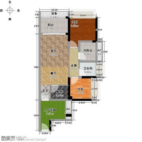 畔山名居・特区青年2室1厅1卫1厨80.00㎡户型图