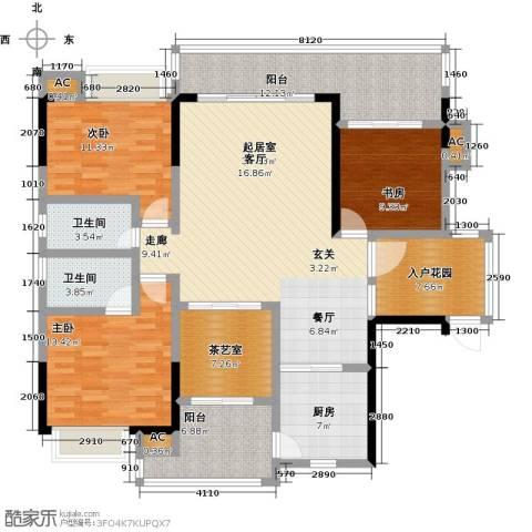 金山龙庭・龙传墅3室0厅2卫1厨175.00㎡户型图
