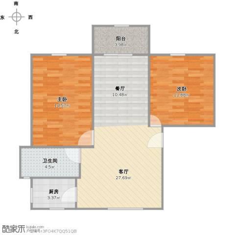 安康新村2室1厅1卫1厨88.00㎡户型图