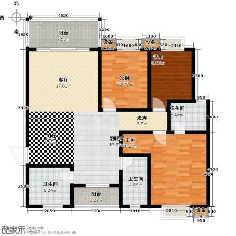 华韵城市风情(一期)3室1厅3卫0厨135.00㎡户型图