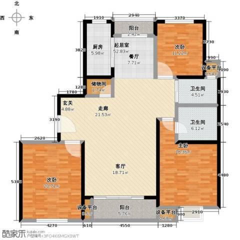 世纪飞凡锦城(世纪长江苑)3室0厅2卫1厨188.00㎡户型图