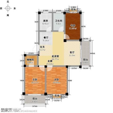 翡翠城3室0厅1卫1厨157.00㎡户型图