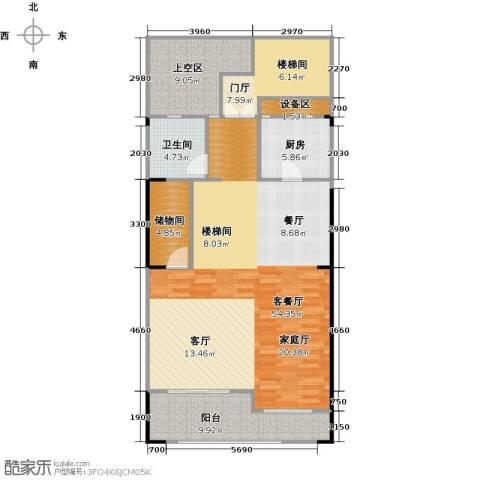 领峰1厅1卫1厨175.00㎡户型图