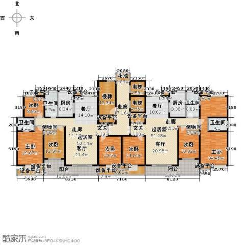 新邦涌金门二期7室0厅4卫2厨348.67㎡户型图