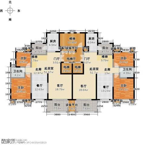 新邦涌金门二期4室0厅2卫2厨255.00㎡户型图