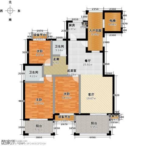 书香园3室0厅2卫1厨134.00㎡户型图
