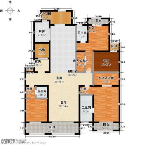 巨凝金水岸4室0厅3卫1厨260.00㎡户型图