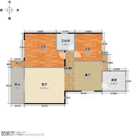 长房东郡(二期)2室0厅1卫1厨96.00㎡户型图