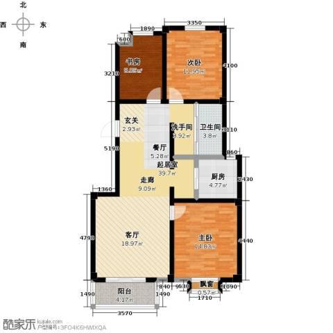 翡翠城3室0厅1卫1厨127.00㎡户型图
