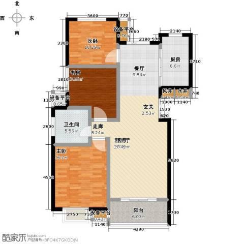 洋河梧桐公馆3室1厅1卫1厨139.00㎡户型图