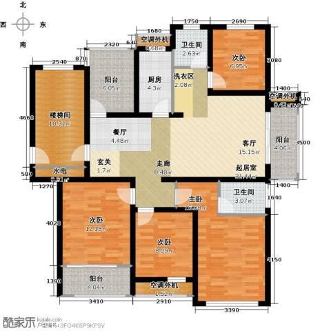 嘉友水岸观邸4室0厅2卫1厨129.00㎡户型图