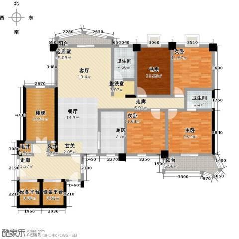 世纪名城4室0厅2卫1厨216.00㎡户型图