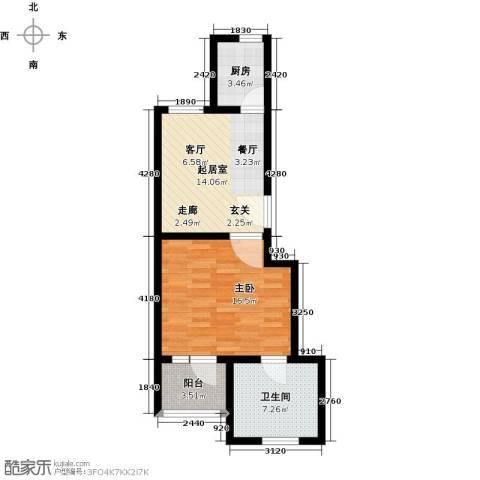 神池龙泉溪1室0厅1卫1厨53.00㎡户型图