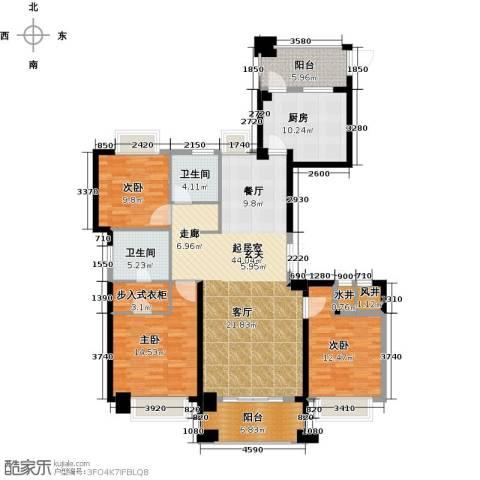 宁德万达广场3室0厅2卫1厨135.00㎡户型图