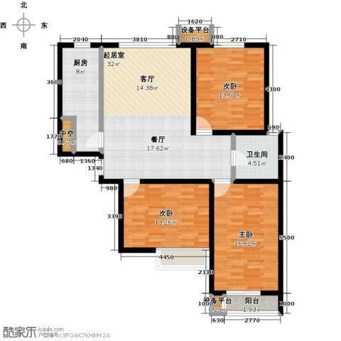 龙华苑3室0厅1卫1厨132.00㎡户型图