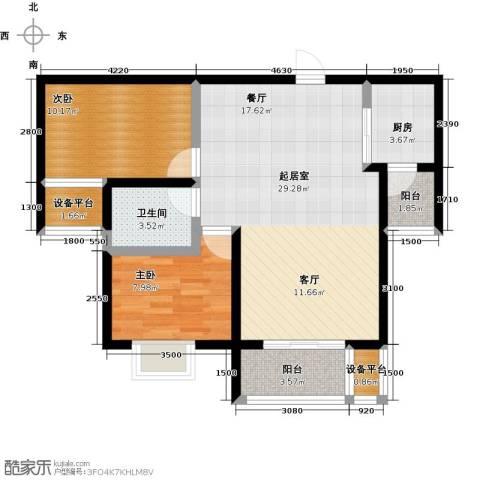 龙华苑2室0厅1卫1厨92.00㎡户型图