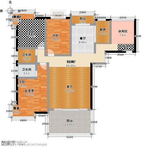 城市经典1室1厅2卫1厨180.00㎡户型图