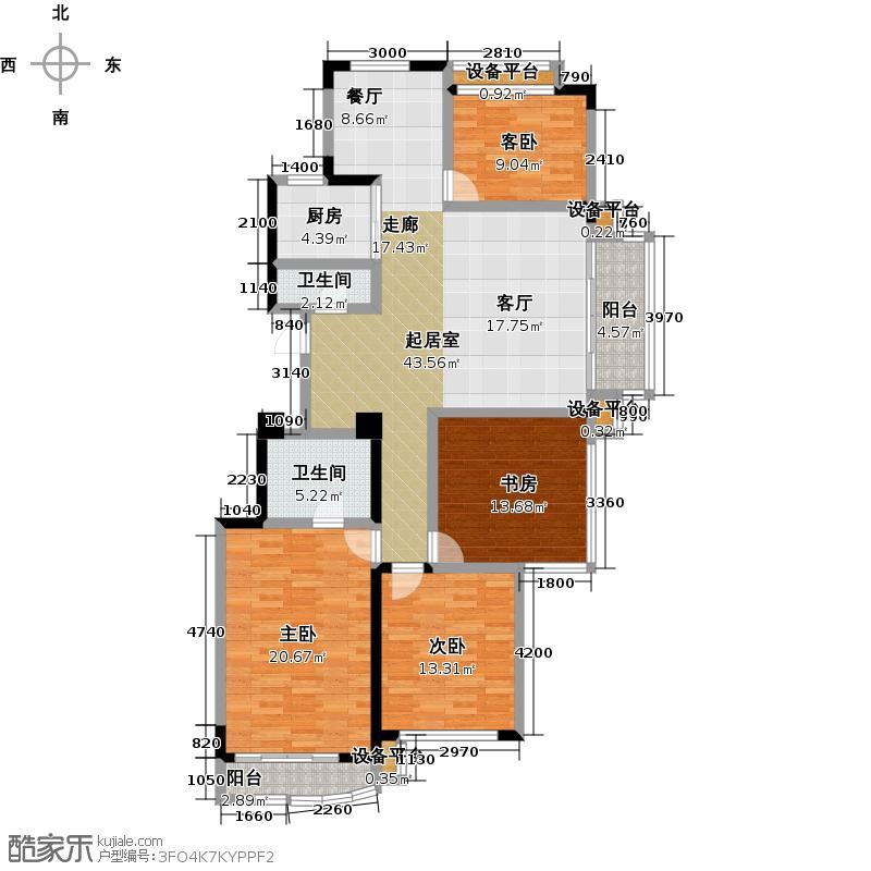 富丽湾景苑四室两厅两卫+功能房 155.32m2-158.33m2 6套户型