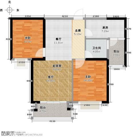 宁德万达广场2室0厅1卫1厨90.00㎡户型图