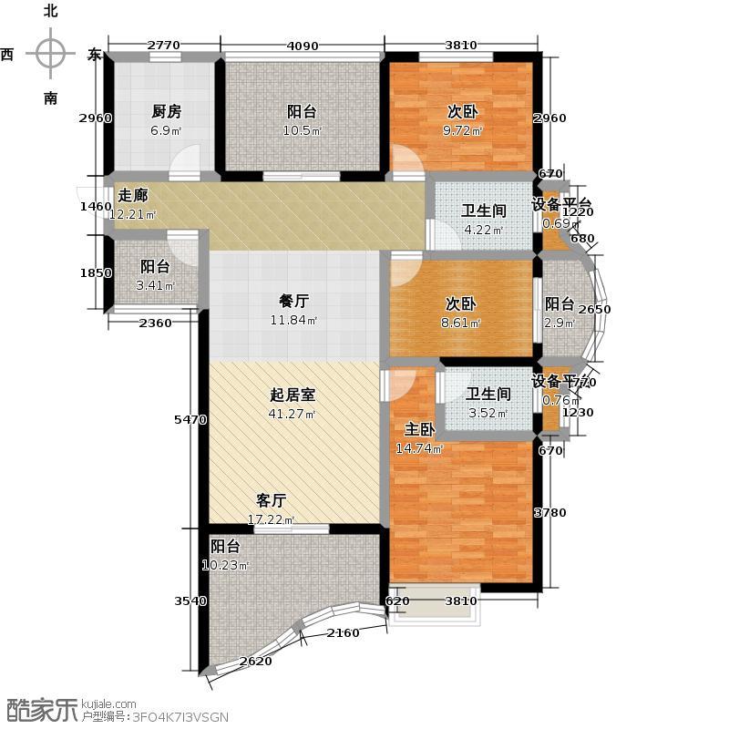 颐和公馆35#5层以上户型