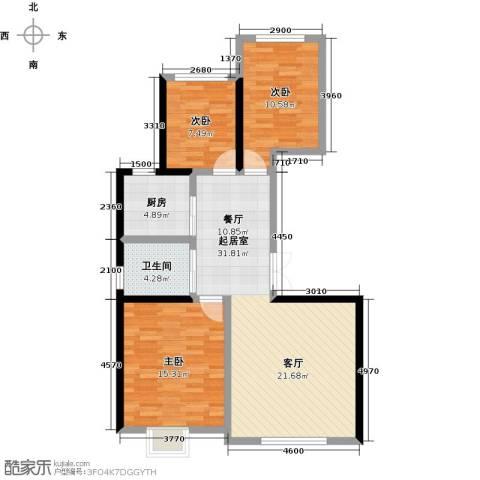 香缇印象3室0厅1卫1厨111.00㎡户型图