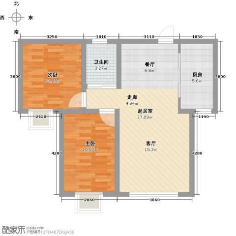 香缇印象2室0厅1卫1厨83.00㎡户型图