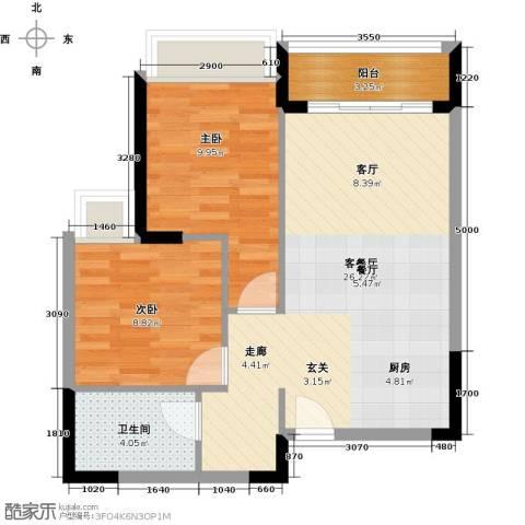 碧桂园・金海湾2室1厅1卫0厨74.00㎡户型图