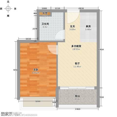 碧桂园・金海湾1室0厅1卫0厨58.00㎡户型图