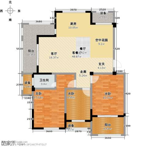 亿嘉・江南水岸3室1厅1卫0厨165.00㎡户型图
