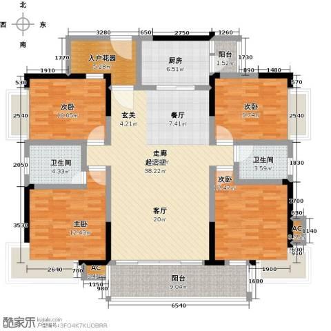 金山龙庭・龙传墅4室0厅2卫1厨166.00㎡户型图