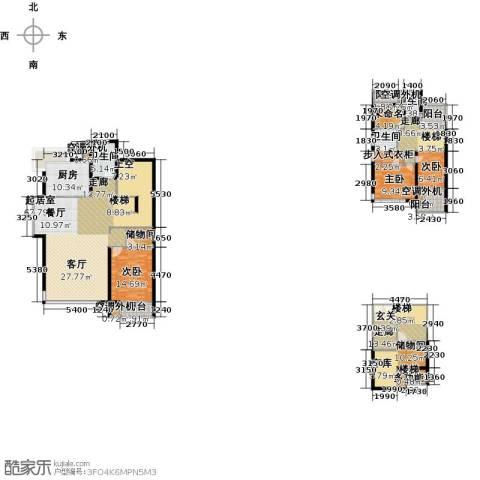 国际新城胜宏・靓都2期3室0厅3卫1厨251.00㎡户型图