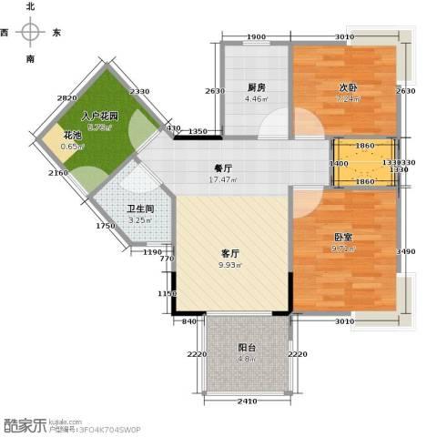 衍宏・美丽春天4期1室1厅1卫1厨60.00㎡户型图