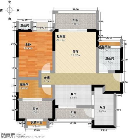 峰度天下1室0厅2卫1厨86.00㎡户型图