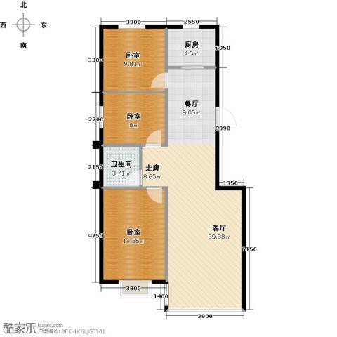 瑞士风情小镇三期1厅1卫1厨107.00㎡户型图