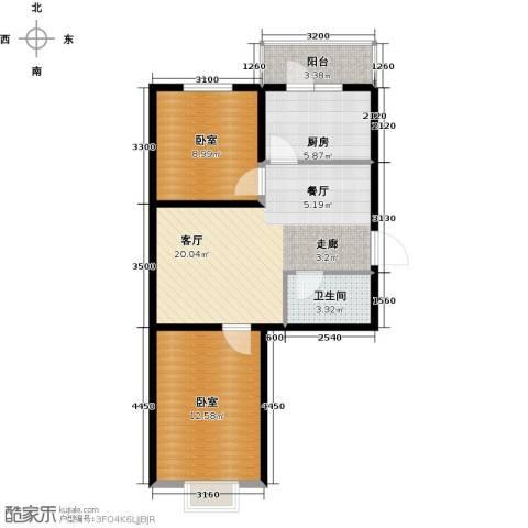 瑞士风情小镇三期1厅1卫1厨70.00㎡户型图