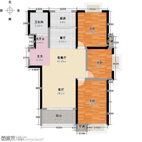 教授花园3室1厅1卫1厨211.00㎡户型图