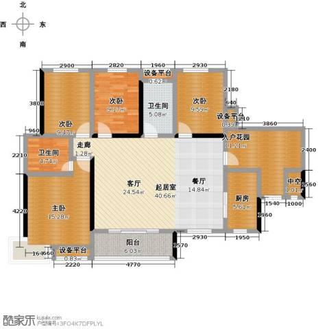 大汉汉园4室0厅2卫1厨141.00㎡户型图