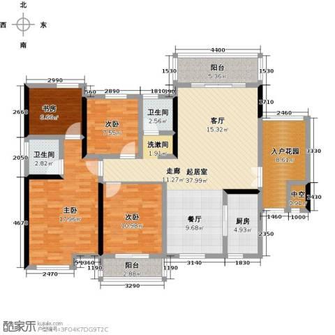 大汉汉园4室0厅2卫1厨137.00㎡户型图